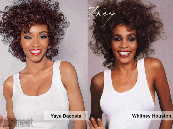 Wow! @theyayadacosta as Whitney Houston @lifetimetv biopic by @ImAngelaBassett #shedidthat http://t.co/7lkY9y7Jc2 http://t.co/GpujvmZqjr
