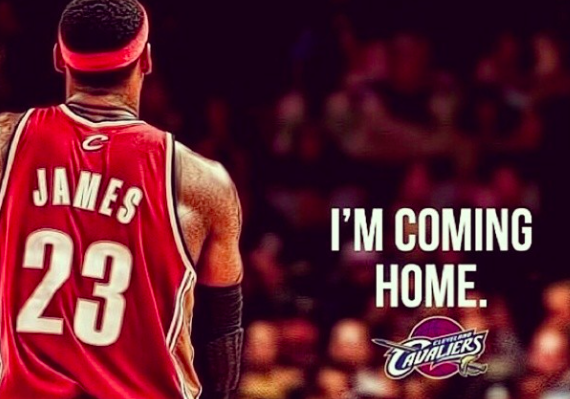 BREAKING: Miami Heat to relocate to Akron, Ohio #Lebron #LeBronWatch2014 Thanks @FrankCaliendo @KingJames http://t.co/ja7J2Tn11J
