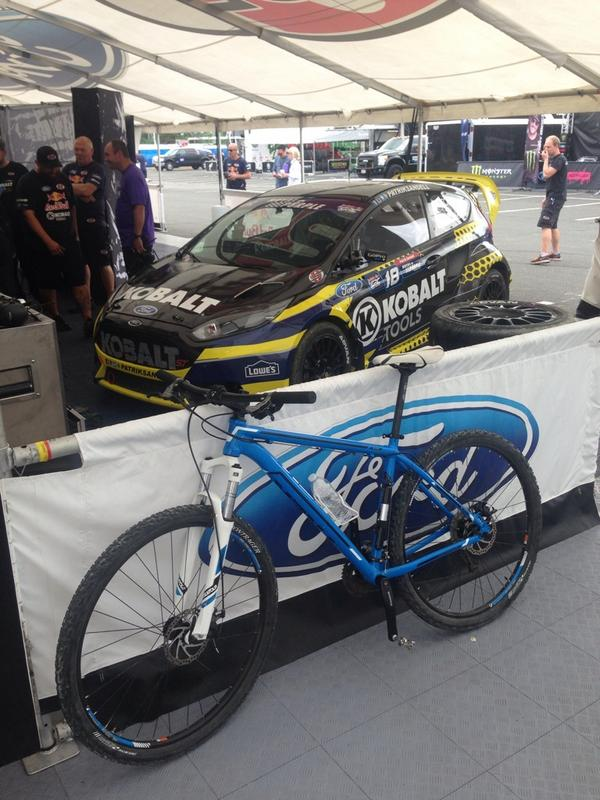 Headed out for the Semifinal ! My two rides for the weekend look good! Don't you think? @LowesRacing @TrekBikes