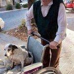 Su perra no puede caminar, pero él la saca a pasear todos los días. http://t.co/bFbNUalOTH