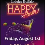 RT @BfloTheatreDis: #HappyHour today at @IndulgeBuffalo 49 W. Chippewa St. #Buffalo 5pm-7pm 1/2 Priced Drinks! 21 & over! http://t.co/ff2WBZ2jtk