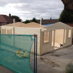 Our new chalet going up thanks to funding from @WorcAmbassadors #MidlandsHour http://t.co/ebe7iQpsL6