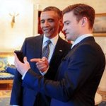 RT @KCeverything: Not bad for a photo opportunity in none other than #KC today @jtimberlake @BarackObama #kansascity http://t.co/eks63J67Z7
