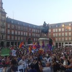 #Spain - Solidarity demonstration with #Gaza in #Madrid at Plaza Mayor. #FreePalestine #GazaUnderAttack http://t.co/J0HjfqFD4f