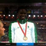 RT @abdul_semi: RECORD: Ese Brume, on the podium, wins #Nigerias first gold medal in 40years, in the womens long jump. #CWG http://t.co/lT0McWCSsA