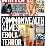 "DAILY MIRROR FRONT PAGE: ""Commonwealth Games Ebola terror"" #skypapers http://t.co/akUEUpGhwG"