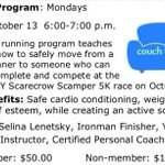Get ur booty off the sofa&join us for our #couch25k program! #Mondays starting Aug 11-Oct 13 @ 6pm! #twithaca http://t.co/nrGYfmtE9B