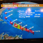 Tropical Storm #BERTHA will likely cross the Lesser Antilles, Puerto Rico, Hispaniola, the Turks & Caicos and Bahamas http://t.co/r9r1Sxp4Te