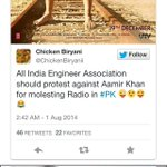 RT @ChickenBiryanii: @ibnlive published my tweet for a demand to protest against Aamir Khan #PK http://t.co/YzNAUva2LM