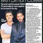 #SRKhostsGTWS : @iamsrk is teaming up with The Popular british TV Personality @SimonCowell . @ColorsTV @GotTalentWS http://t.co/J34J2bFdM4