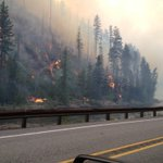 Photo from inside the US 2 closure. Wenatchee River in view.  #ChiwaukumCreek #wawildfire http://t.co/oQJmkxURnN