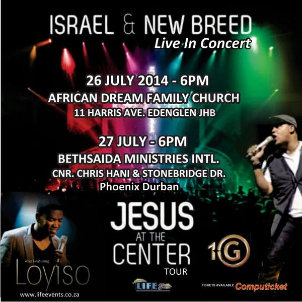 In case you haven't heard, @israelhoughton LIVE IN SA this weekend with @loyisomusic . You don't want to miss it! http://t.co/uNSHAjpECD