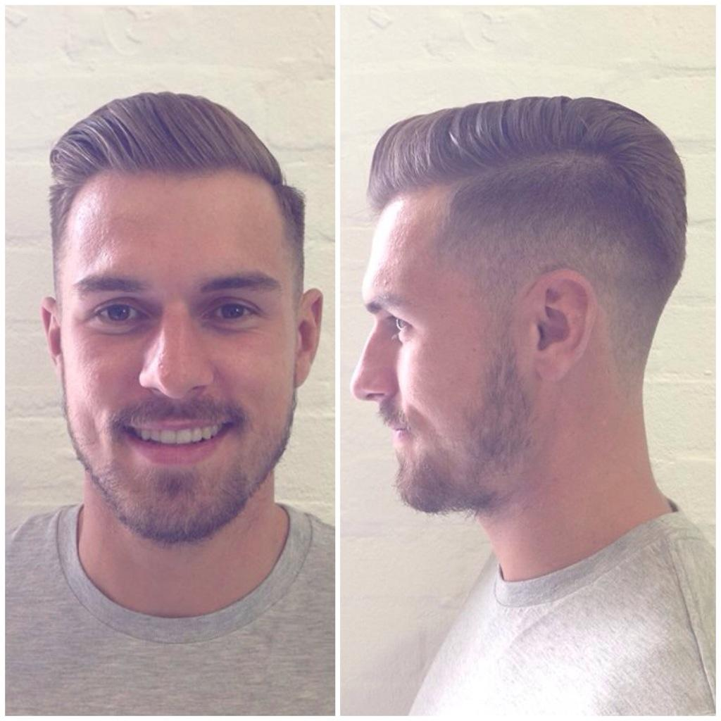 Стрижка треугольником сзади на средние волосы мужская
