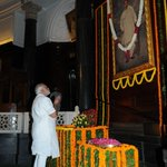 PM Shri Narendra Modi Offered floral tributes to Bal Gangadhar Tilak at Central Hall earlier today http://t.co/xZCSyXqGF9