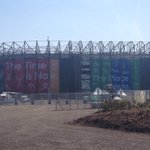 Last minute prep going on inside #CelticPark. Just hours until 1.5BILLION people watch #Glasgow2014 opening ceremony. http://t.co/Av6fT0UWfU