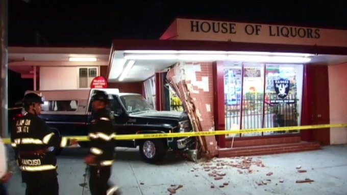 4) A suspected drunk driver slammed into San Leandro liquor store. http://t.co/RTLoi1PvDJ  #7things #abc7getup http://t.co/OFR1TuTvMQ