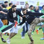 "RT @jj34: Maccabi Haifa players were assaulted tonight by an anti-Israel mob during a ""friendly"" match against Lille. Sickening http://t.co/jihd3hRg6U"