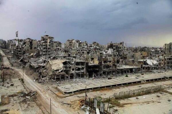 Homs, Syria today. Let it not be Gaza or anyplace else tomorrow. Please speak up for peace, not for more destruction. http://t.co/vsAAxS8DJM