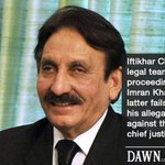 RT @dawn_com: Iftikhar Chaudhrys legal team to announce strategy over Imrans allegations http://t.co/ROQMYWbAwe http://t.co/hr9vznzqY4
