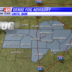 RT @waff48: A dense fog advisory is in effect until 9am. @LaurenJonesWAFF has details right now on WAFF48 News Today. http://t.co/RD7gModCJT