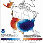 6-10 day probability temperature outlook showing a high percentage for below normal temperatures. #winning #kywx http://t.co/7MKTDYeh1J