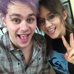 RT @SarahMOnline: Michael just got his brow pierced ???? @Michael5SOS http://t.co/BA1X1c7jRN