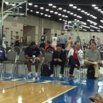 RT @ITVHughes: Rick Pitino and Mike Balado watching Antonio Blakeney. Stay tuned to http://t.co/dbyjEiB4zV for scoop http://t.co/X7ynDVvdhl