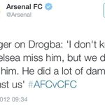 RT @indykaila: Mr Wenger, you was saying? @Arsenal @chelseafc http://t.co/4ymYEkUczl
