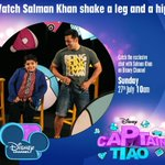RT @niki_hi81: Watch @BeingSalmanKhan shake a leg & a hip on Captain Tiao on Disney Channel, July 27 at 10am http://t.co/NaMIBiBVHB http://t.co/QQUKJs1int""