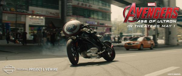 It's official! Black Widow will ride #ProjectLiveWire in @Marvel's #Avengers: #AgeOfUltron. In Theaters May 1. http://t.co/PUyVr8PbqV