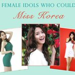 RT @allkpop: 10 Female Idols who could be Miss Korea http://t.co/Cgg7S6d6ex http://t.co/7ZznyJULCW
