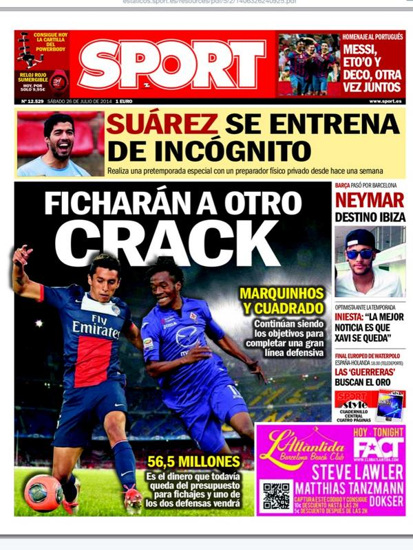 BtbIfK8CIAAK7Xi Spanish newspaper Sport tells Barcelona fans to expect at least one more major signing
