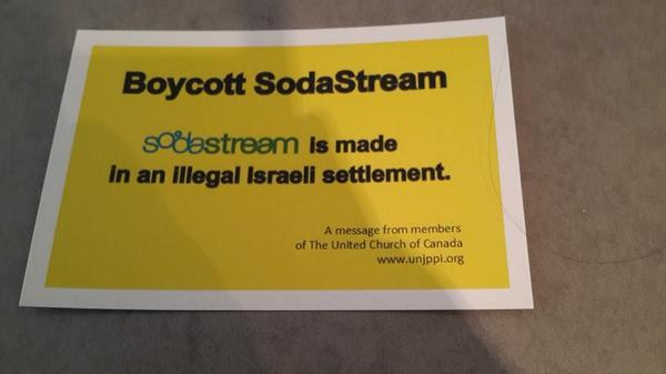 Distributed by the United Church of Canada on the streets of #toronto   #BDS http://t.co/X5IlLJwvmU