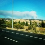 Smoke from the El Dorado/Amador County fire as seen from our live truck. http://t.co/gXOGGRPkmq