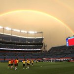 PIC: Double rainbow in Denver. All the way. #mutour http://t.co/CdLQ6GKye8