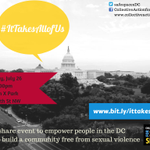RT @SafeSpacesDC: Hey #DC! See you at 2pm for #ItTakesAllofUs! http://t.co/0AV0J5MXAS #endSH #lgbt #vaw http://t.co/XlPm5GZCa8