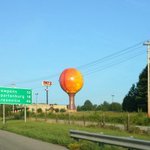 A sign that #PanthersCamp has started. The giant Gaffney peach. http://t.co/zPGuSVIFeY