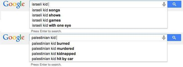 """@dalaaalmoufti: A story told by Google search ..  no more comment  --- #GazaUnderAttack #Gaza  -- http://t.co/Z7rJGQbFEX"""