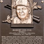 RT @BaseballHall: #FirstLook: Bobby Coxs Hall of Fame plaque. #HOFWKND http://t.co/RSvxoYQyjs