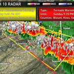 RT @wbir: Another severe thunderstorm warning for Western Knox, Sevier, Blount, Anderson - http://t.co/gjZrViB7kX http://t.co/GG8b5mWhuo