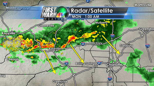 Tornado Watch has expired for the WCNC viewing area. A line of showers and storms will move through overnight