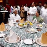 Hello @ndtv @ibnlive @Timesnow @Headlinestoday.. SoniaG having meals with Convicted Laloo.. is okay with you morons? http://t.co/D1nZ8fJDhM
