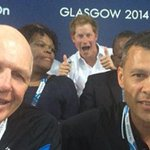 All hail his royal highness, Prince Harry of Photobombing: http://t.co/ytD4oByh7r #cwg2014 http://t.co/Tu9HIHTXu7