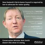 RT @kmccready: Nick Smith Conservation Minister. Says it all. http://t.co/axASRNIuQi