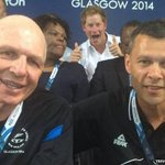 Yet another royal photobomb at #Glasgow2014. http://t.co/0wcc8CwDoU