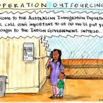 Taking outsourcing to the extreme. How low can this govt go? Some sort of perverse joke? #auspol #AsylumSeekers http://t.co/vopq4iZIlo