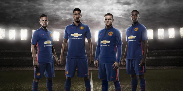 Btu  bpIAAAI82y Man United unveil new blue third kit set to be first worn in friendly v Inter tonight [Pictures]