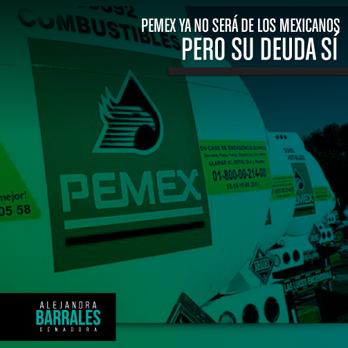 El PRI y el PAN, no conformes con privatizar PEMEX, ahora quieren endeudar una vez más a los mexicanos. #Pemexproa http://t.co/tVf24n88EM