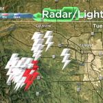 E.C. radar not operational but its raining with lightning west of Calgary and its moving this way. #yyc #abstorm http://t.co/kwuoiKoEIr