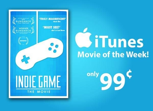 Also today:  @indiegamemovie is on special for only 99 cents over on iTunes!  https://t.co/1QZqvZUxrq http://t.co/XkUSjIg13h